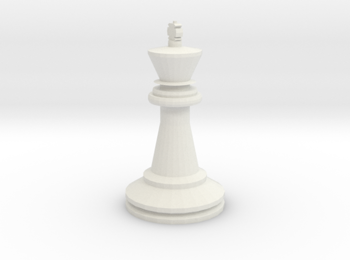 Large Staunton King Chesspiece 3d printed