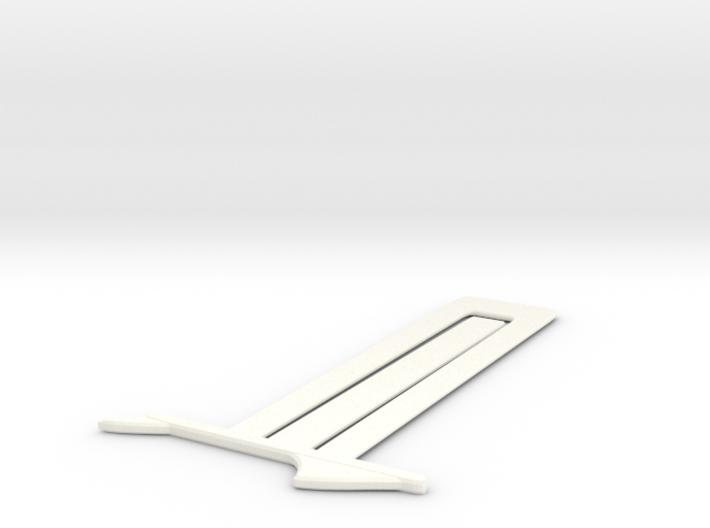 Shark Bookmark 3d printed