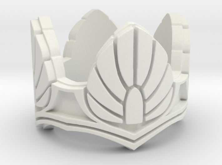 Gray Dawn Ring Size 10 - Higher Detail 3d printed