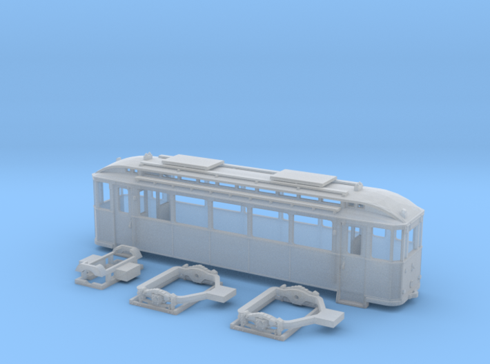 Tram Leipzig Typ24a Spur TT (1:120) 3d printed