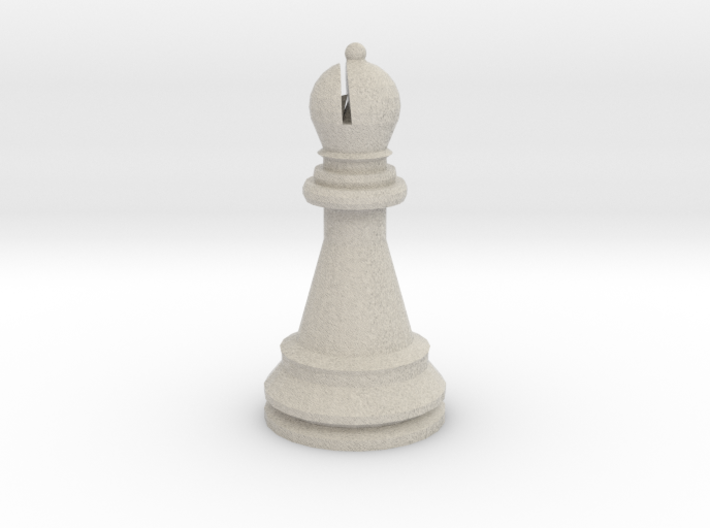 Large Staunton Bishop Chesspiece 3d printed