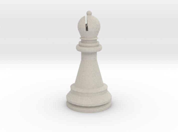 Large Staunton Bishop Chesspiece 3d printed