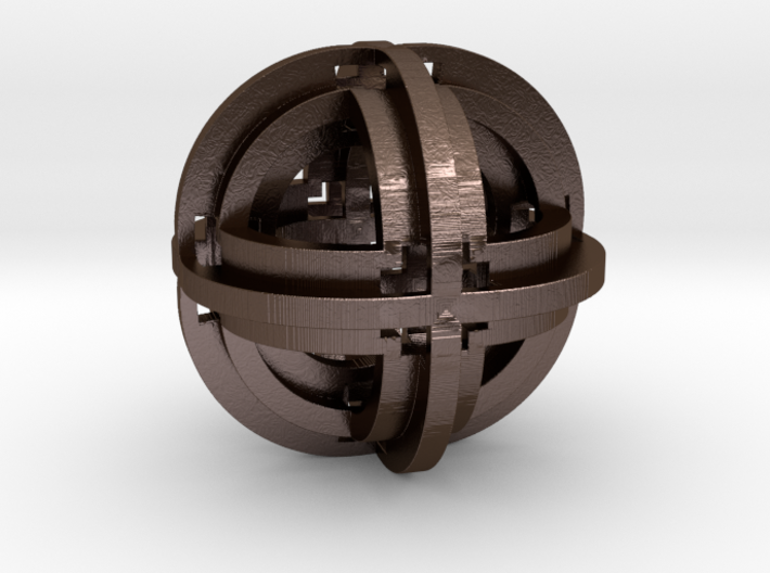 Geometric Pendant 30mm D2 3d printed