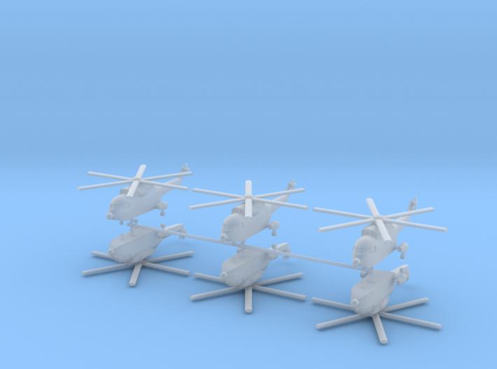 1/400 Super Frelon / PLAAF Z-8 Helicopter (x6) 3d printed