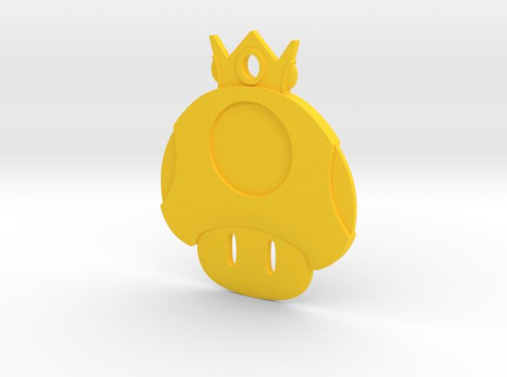 Golden Mushroom Key Chain 3d printed