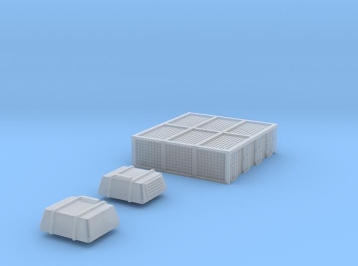 N Scale AEM7 Loco Roof Detail Set 3d printed