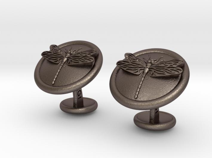 Dragonfly Cufflinks 3d printed