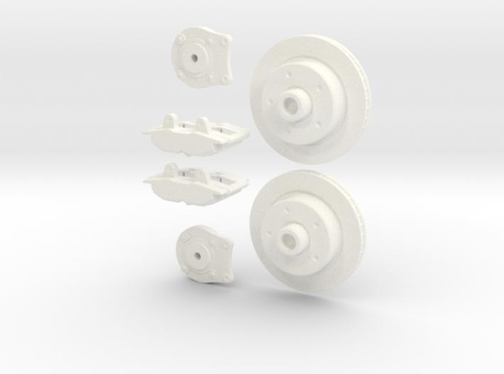 1/8 Rear Disk Brake Setup 3d printed