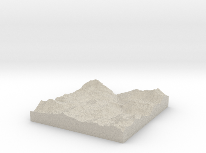 Model of Tignes / Val d'Isere 3d printed