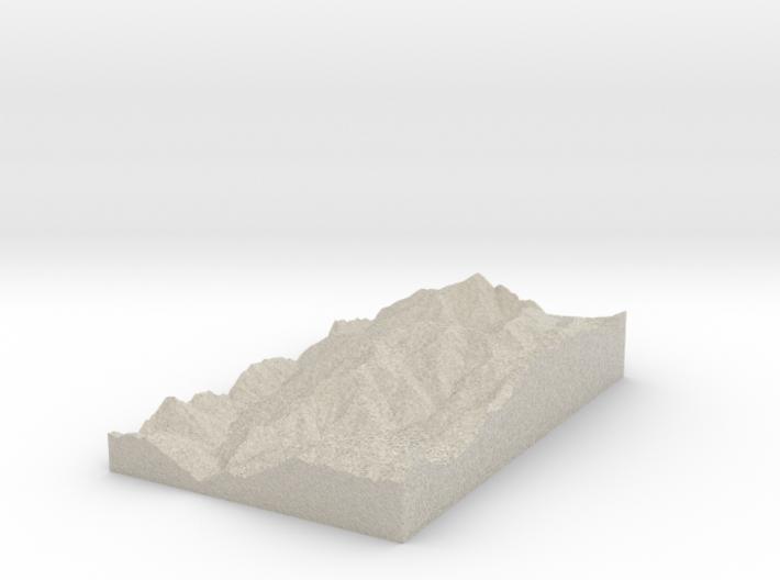 Model of Saint Sauveur sur Tinée 3d printed