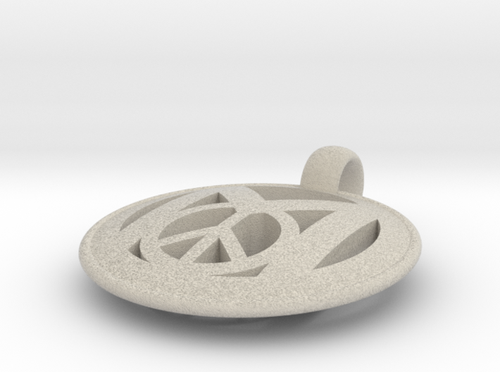 Millennial Peace Pendant (does not include cord) 3d printed