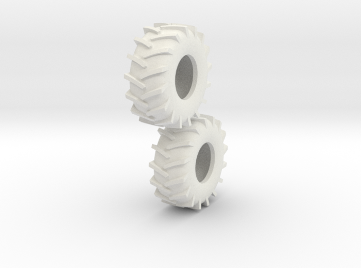 1:64 scale 30.5-32 Tire Pair 3d printed