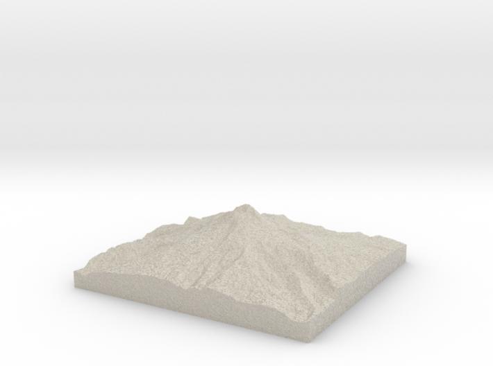 Model of Mount Hood 3d printed