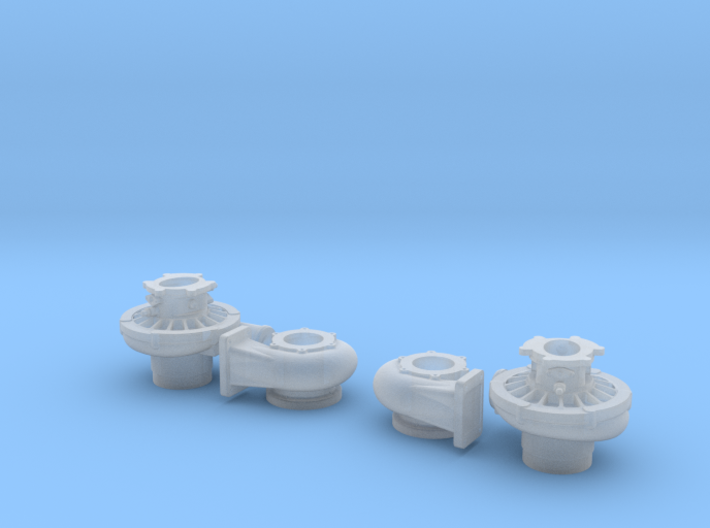 1/24 scale 2 Inch Right And Left Turbo 3d printed