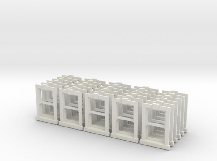 Sash Window Type X1 -  x 20 4mm Scale 3d printed