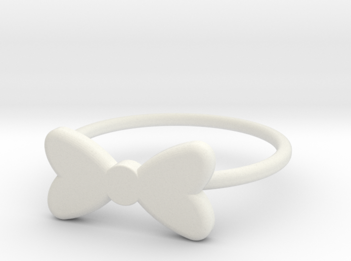 Midi Bow Ring the second by titbit 3d printed