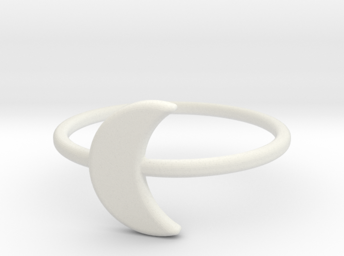 Midi Moon Ring by titbit 3d printed