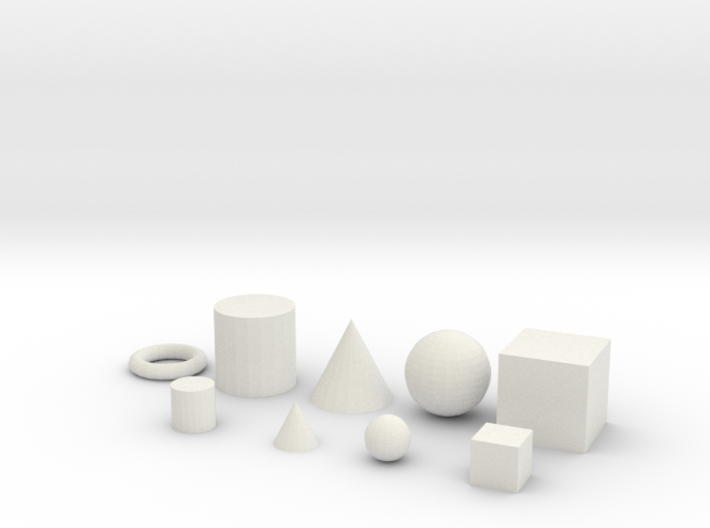 Primitive objects for test printing_V1.2 3d printed