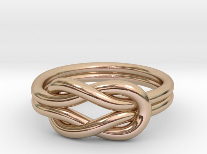 Knot Midi Ring 3d printed