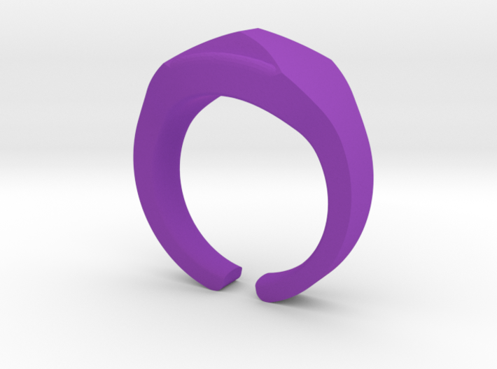 Heavy Ring model 1.2 (size US12: 21,4mm) 3d printed