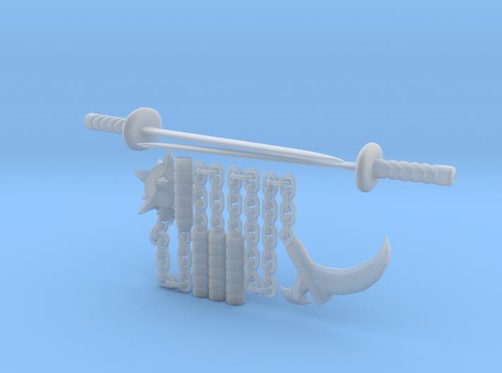 Bot Ninja Weapons 3d printed