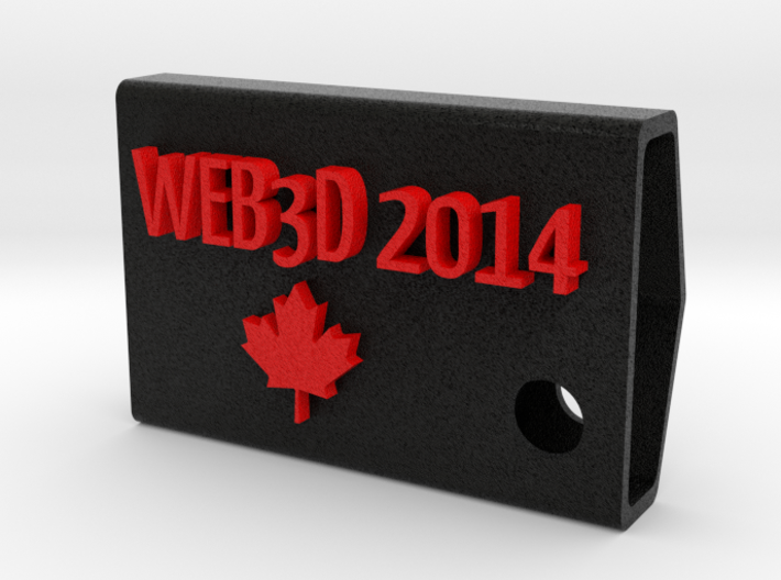 WEB3D 2014 Fob in color 3d printed
