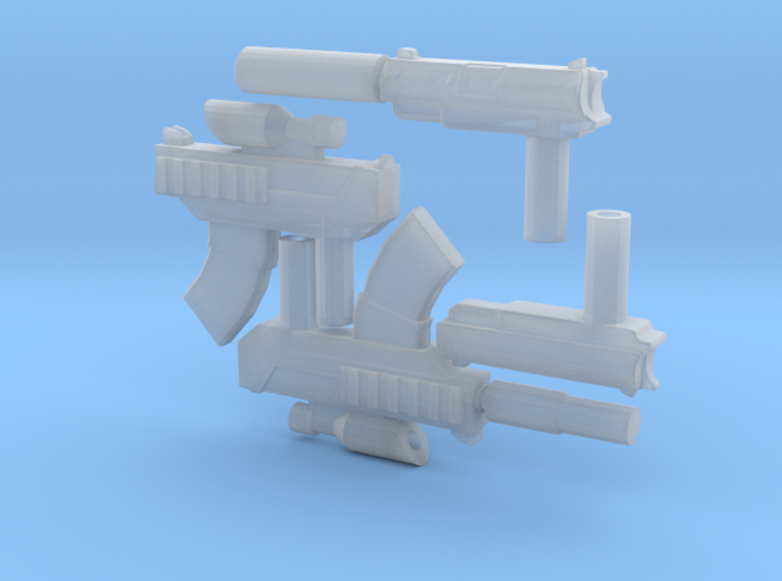 Micro Munny Hitman Weapons 3d printed