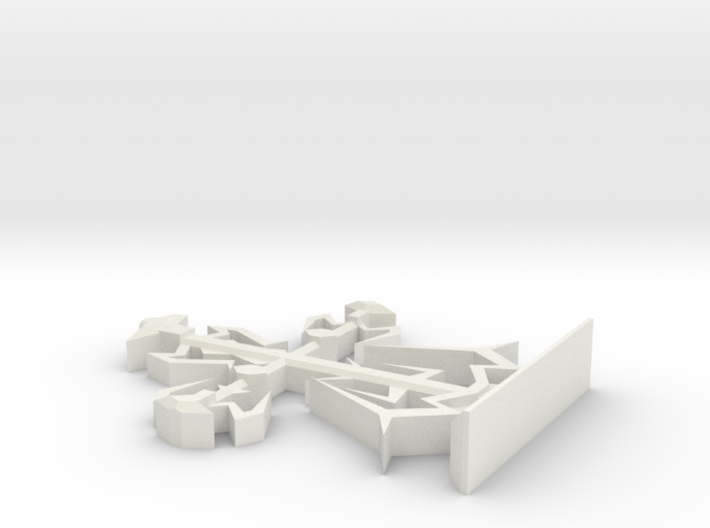 Intricate Medieval Cross on Stand Large 7'' 3d printed