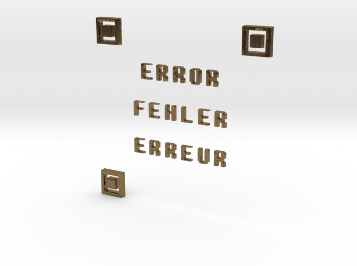 ERROR FEHLER ERREUR QR CODE 3d printed
