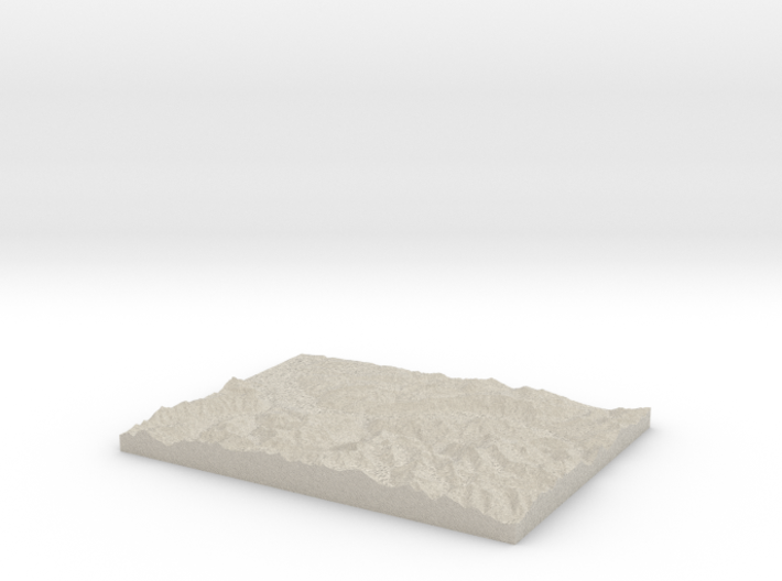 Model of Gündlischwand 3d printed