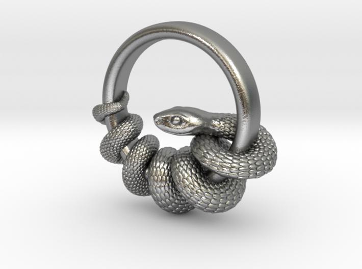 Reverse Snake Ring 3d printed