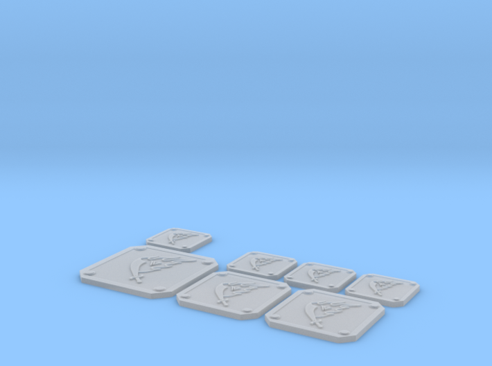 Scimitar Icon Plates 001 3d printed