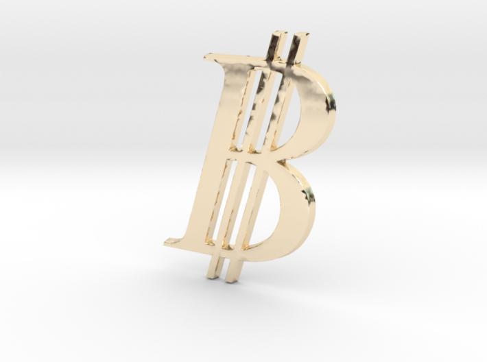 Bitcoin Logo 3D 80mm 3d printed