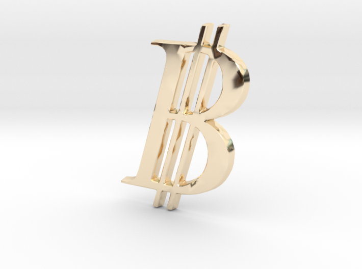 Bitcoin Logo 3D 30mm 3d printed