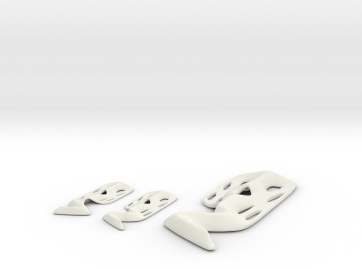 Modern Scream pendant and earring set 3d printed