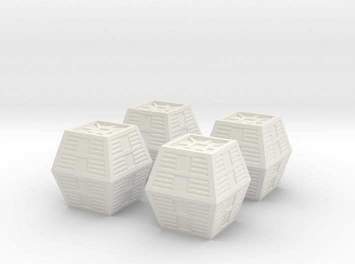 """Cargo Crates for 44"""" Space 1999 Eagle 3d printed"""