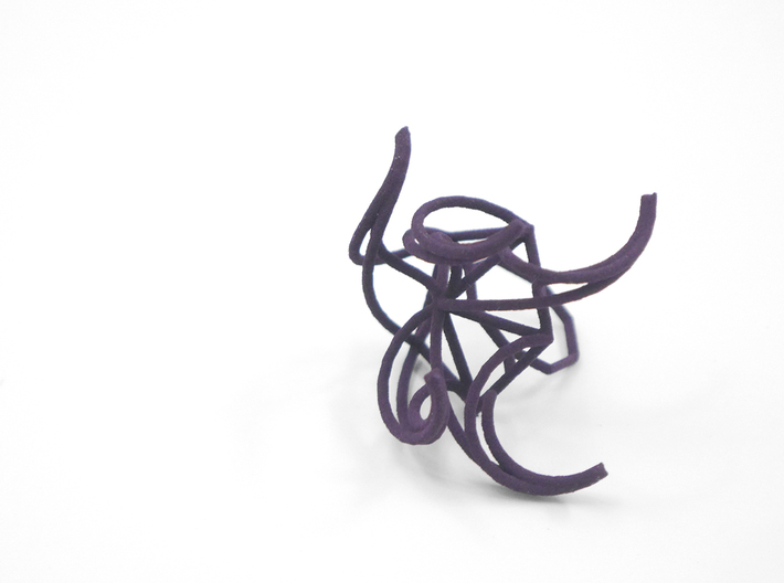 Aster Ring (Large) Size 6 3d printed Custom Dyed Color (Midnight)