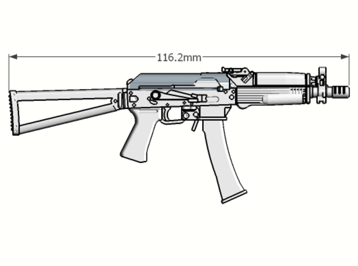 1:6 scale Russian Vityaz SMG Full Package 3d printed