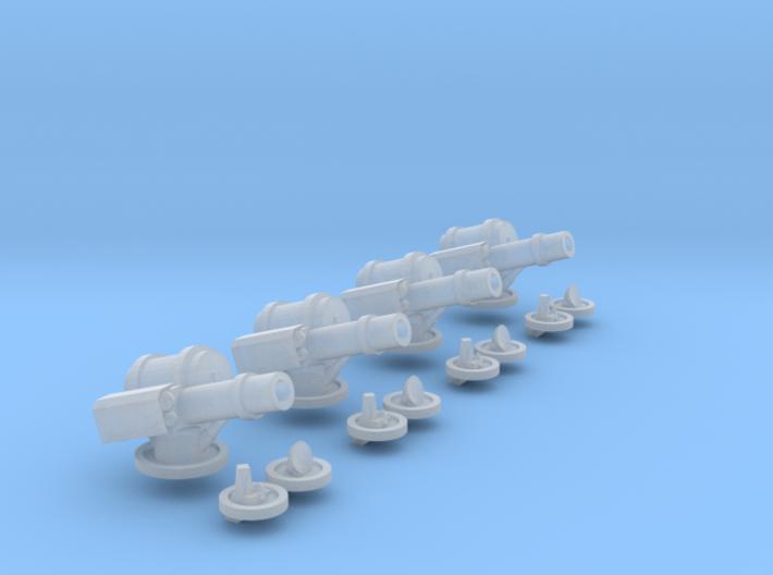 6mm AA Turret Set 3d printed