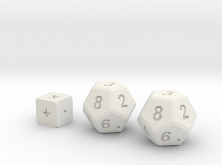 Math Practice Dice By Ctrl Design 3d printed
