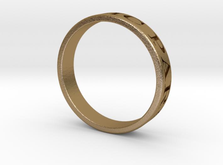 Latin Motto Ring 3d printed