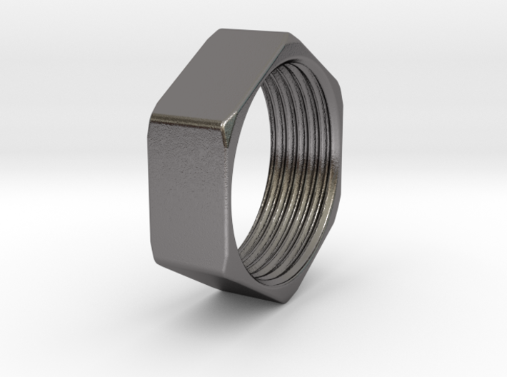 Threaded Hex Nut Ring 3d printed