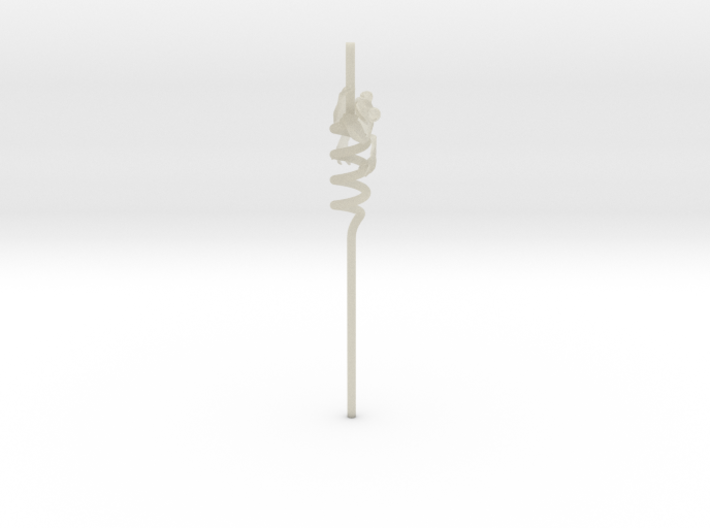 Alcoholic Frog Straw 3d printed