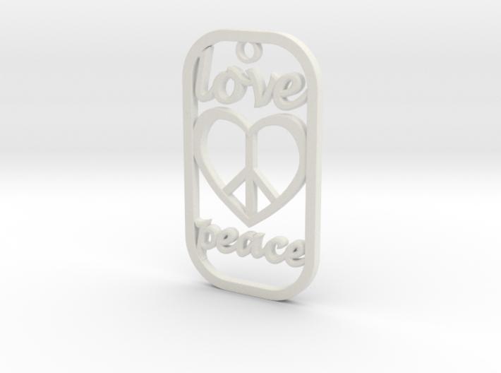 Dog Tag Love Peace Def File 3d printed