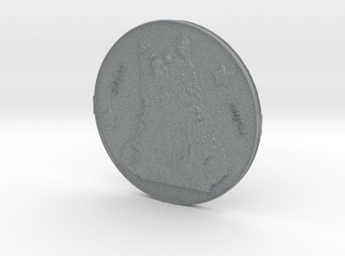 cap tourism bear coin 3d printed