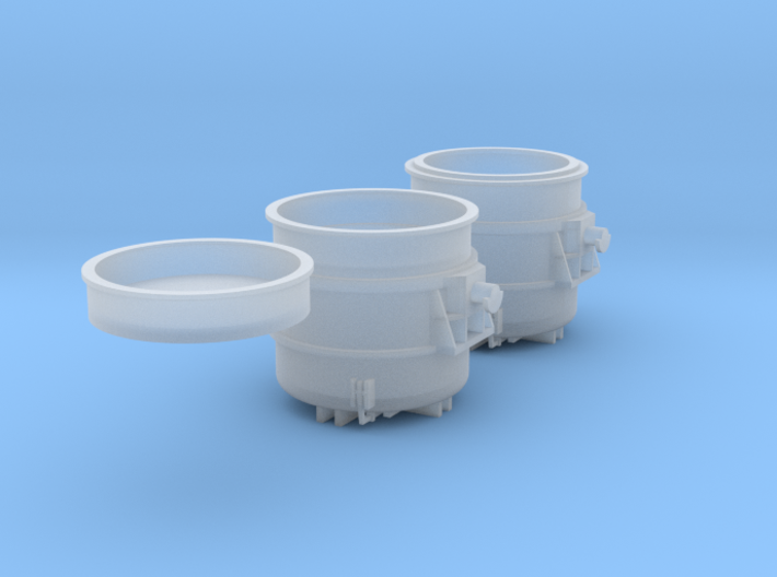 Z-scale 250t Teeming Ladle set, empty and loaded 3d printed