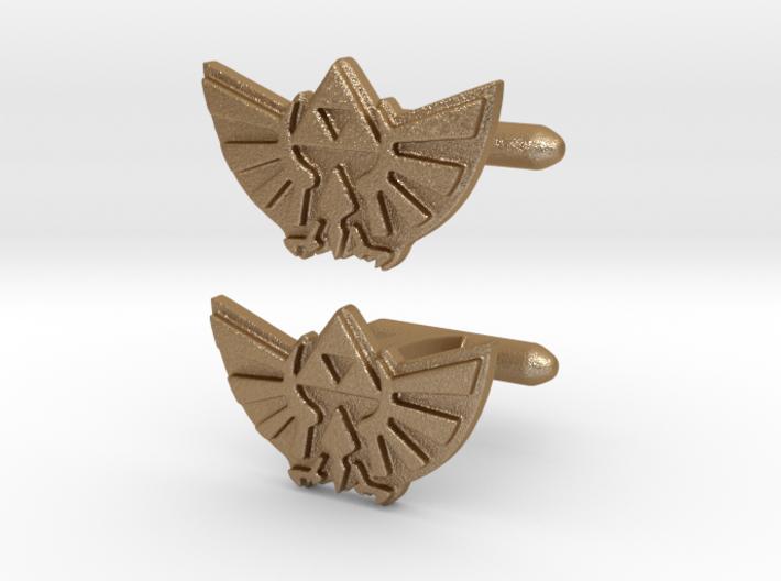 Legend of Zelda: Triforce Cufflinks 3d printed