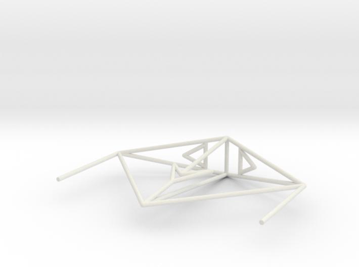 Krait Wireframe 1-300 3d printed