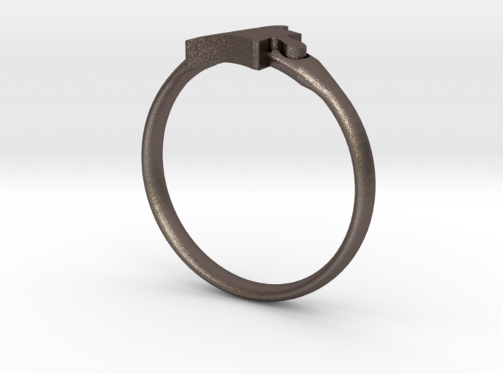 Autism Puzzle Piece Ring - Size 4.5 3d printed