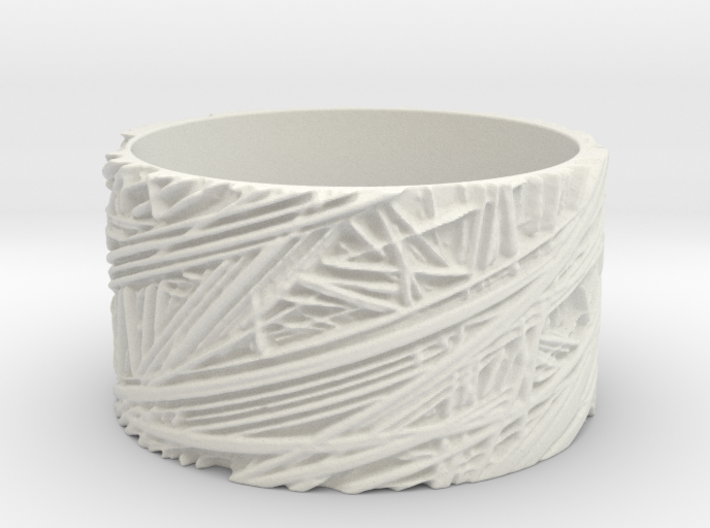 Fibres Ring Size 10 3d printed